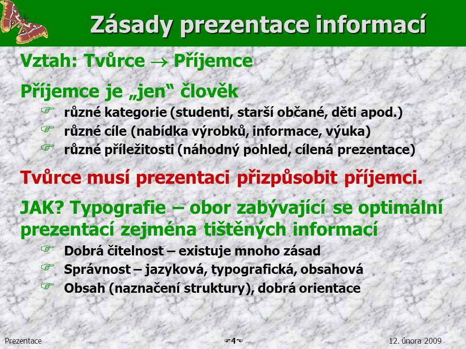 Zásady prezentace informací