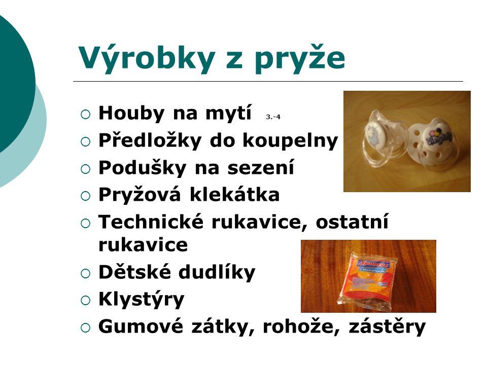 Výrobky z pryže Houby na mytí 3.-4 Předložky do koupelny