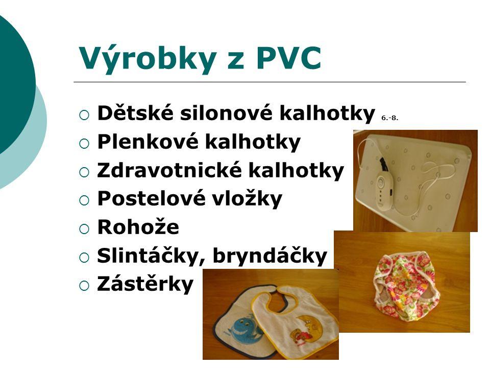 Výrobky z PVC Dětské silonové kalhotky 6.-8. Plenkové kalhotky