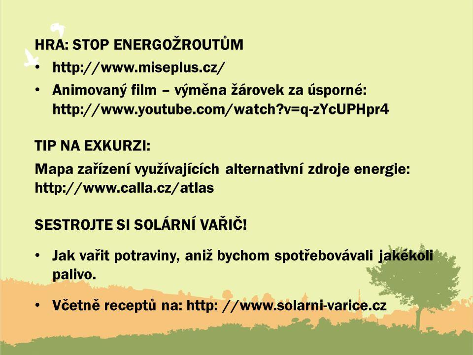 Hra: stop energožroutům
