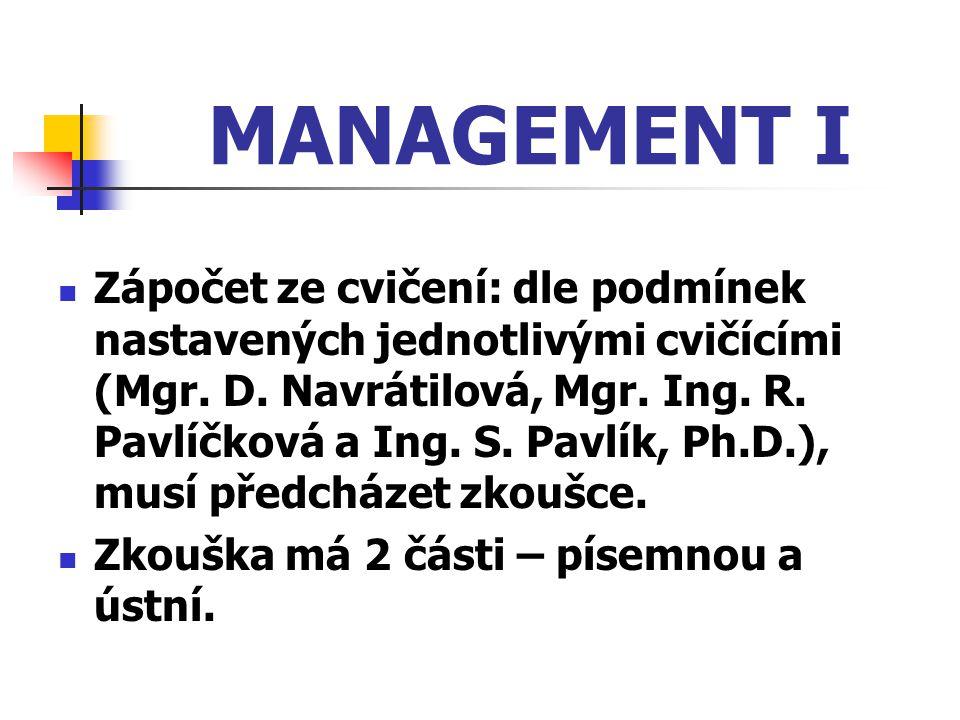 MANAGEMENT I