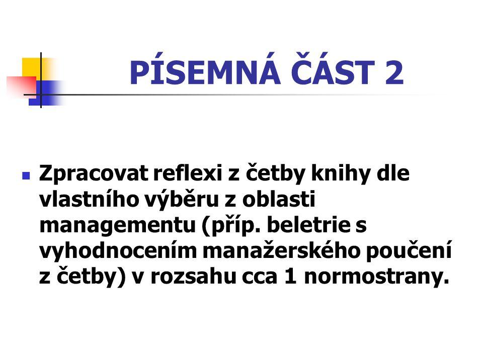 PÍSEMNÁ ČÁST 2