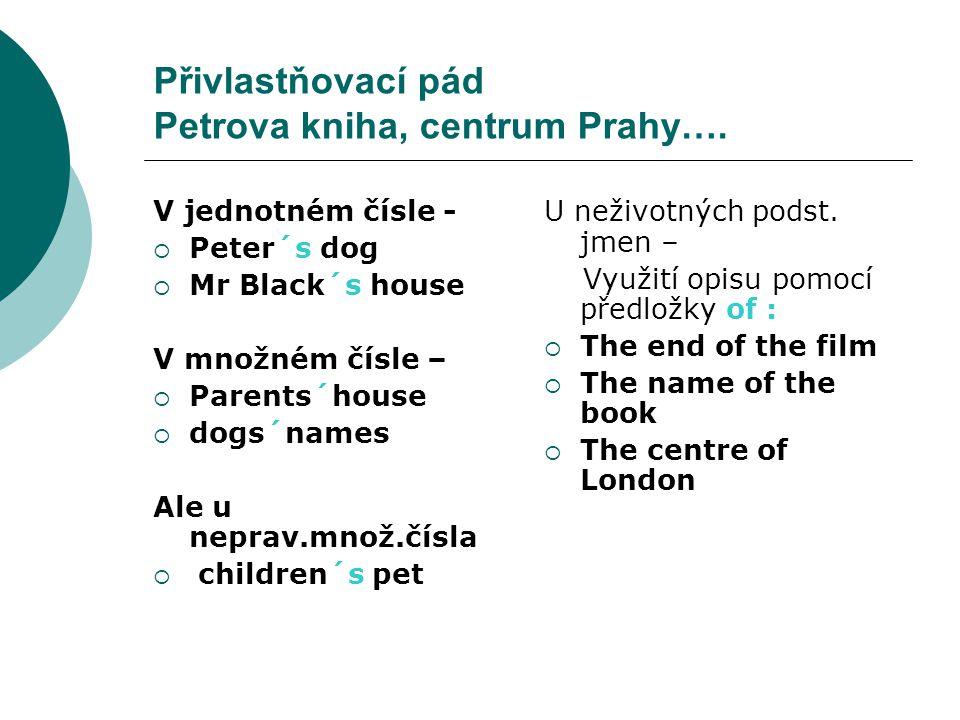 Přivlastňovací pád Petrova kniha, centrum Prahy….
