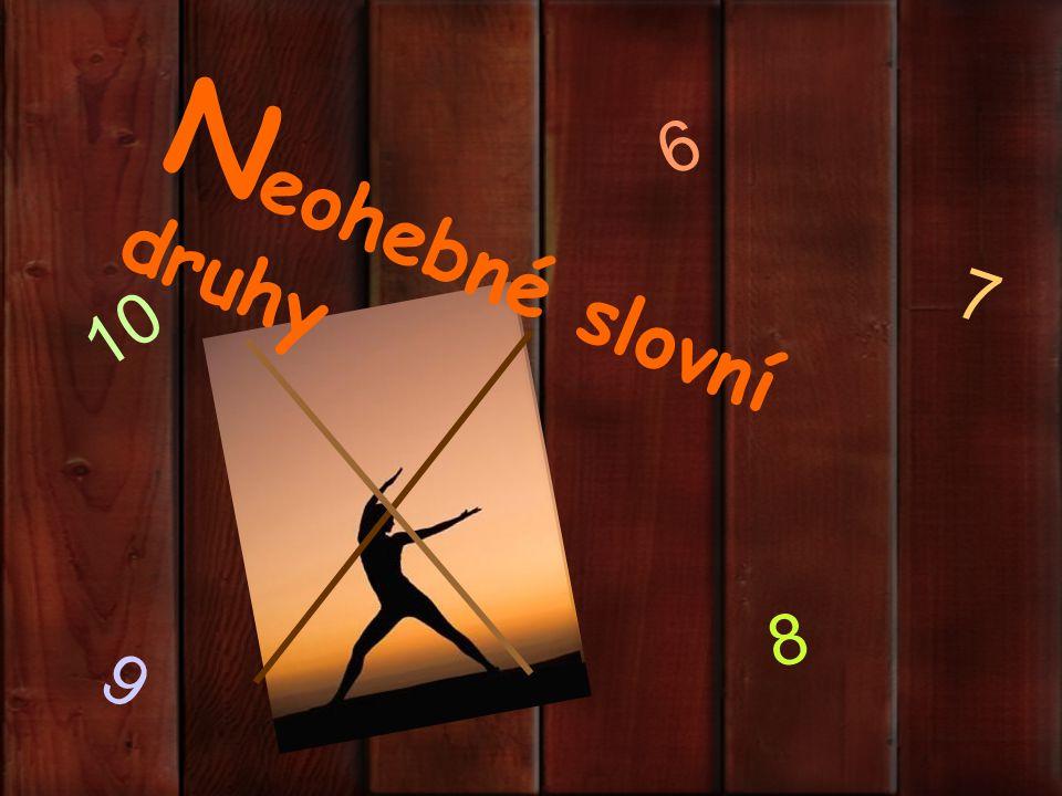 6 Neohebné slovní druhy 7 10 8 9