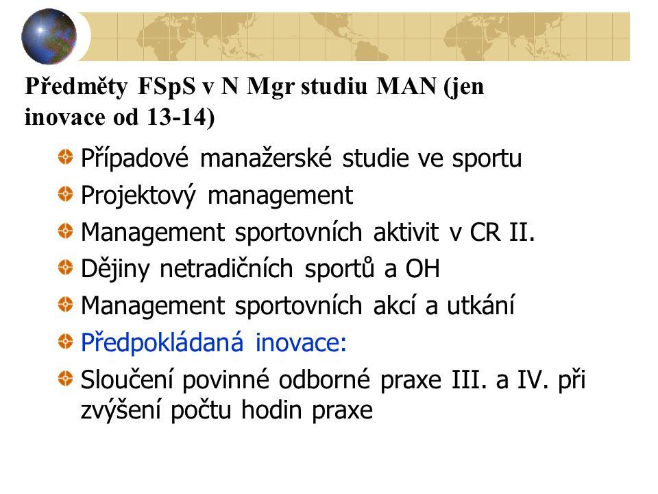 Předměty FSpS v N Mgr studiu MAN (jen inovace od 13-14)
