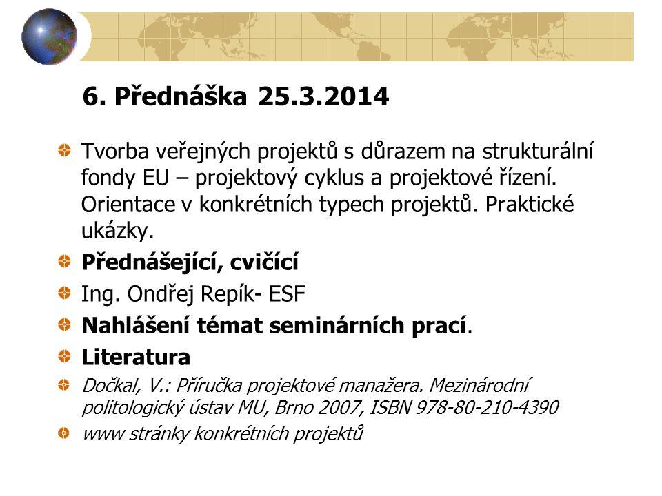 6. Přednáška 25.3.2014