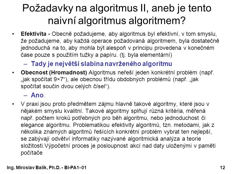 Programování a algoritmizace 1