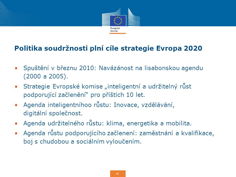 Politika soudržnosti plní cíle strategie Evropa 2020