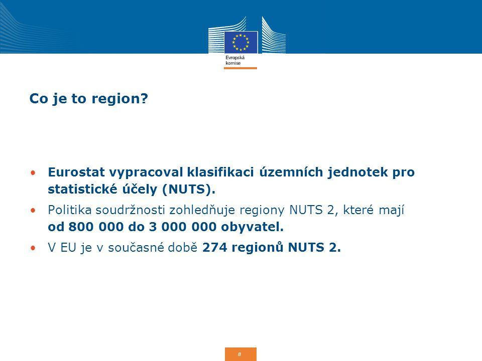 Co je to region Eurostat vypracoval klasifikaci územních jednotek pro statistické účely (NUTS).