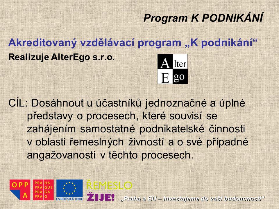 """Akreditovaný vzdělávací program """"K podnikání"""