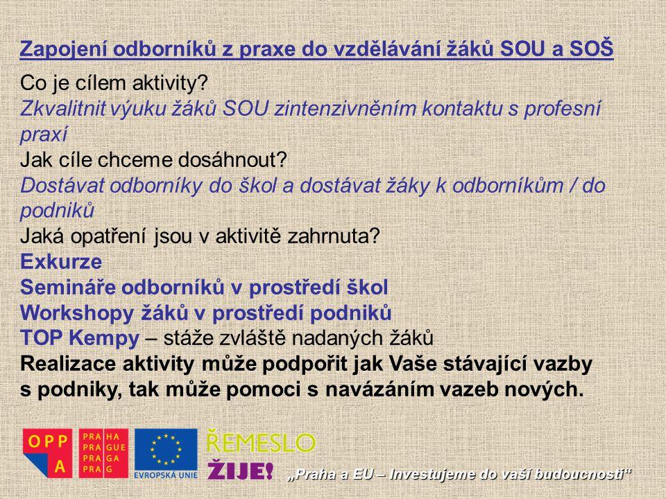 Zapojení odborníků z praxe do vzdělávání žáků SOU a SOŠ