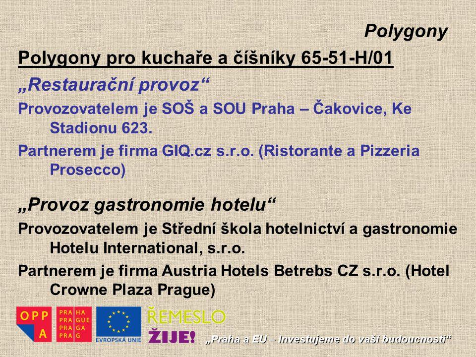"""Polygony pro kuchaře a číšníky 65-51-H/01 """"Restaurační provoz"""