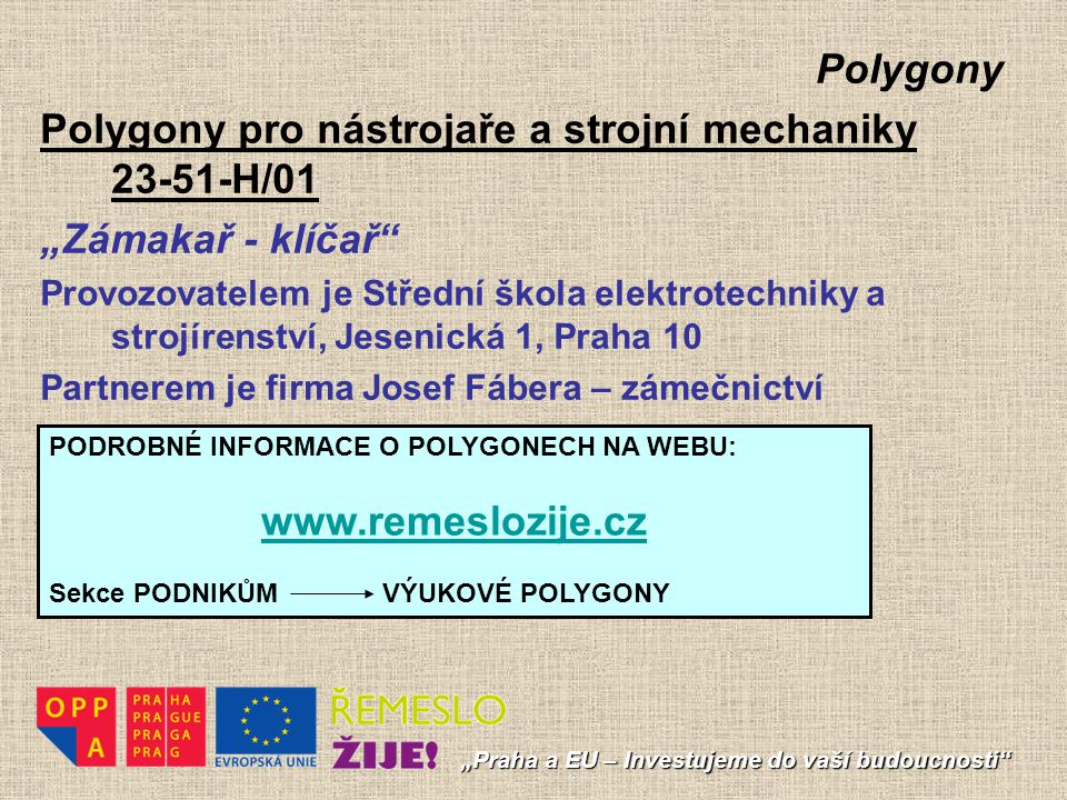 Polygony pro nástrojaře a strojní mechaniky 23-51-H/01