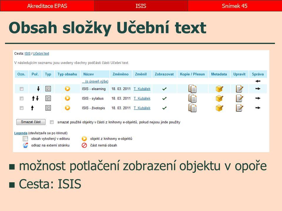 Obsah složky Učební text