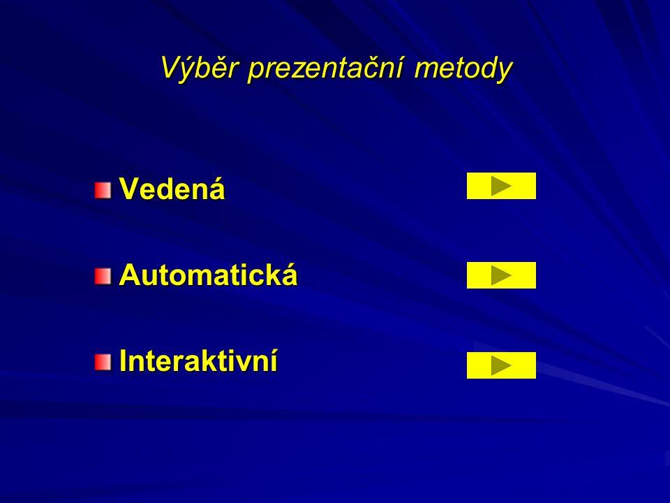 Výběr prezentační metody