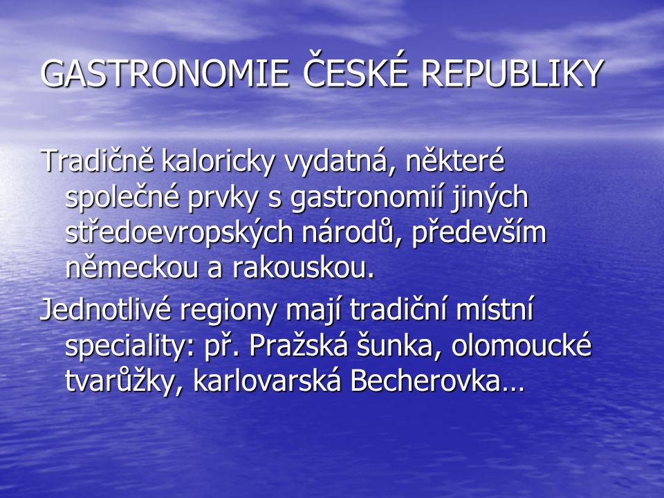 GASTRONOMIE ČESKÉ REPUBLIKY