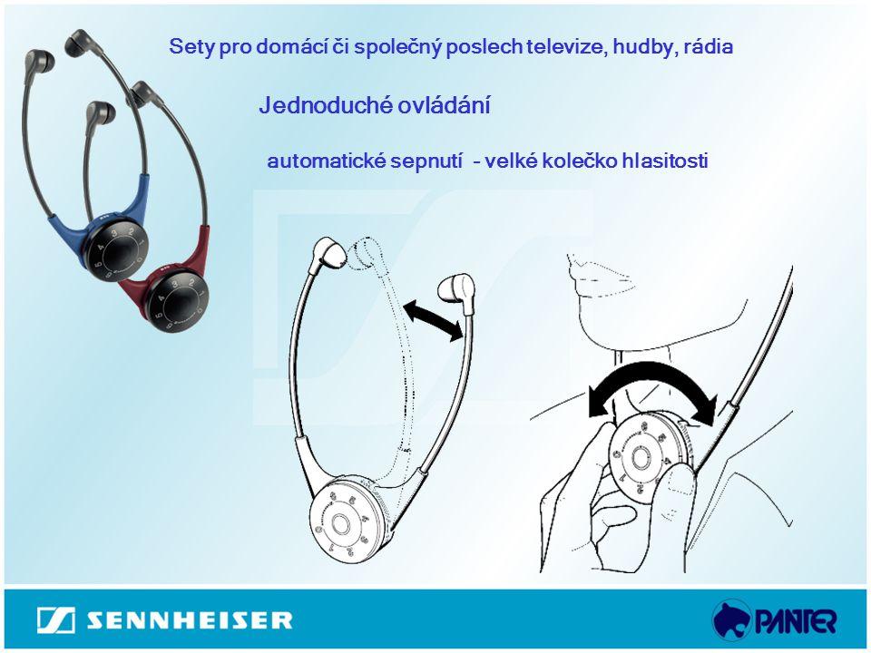 automatické sepnutí - velké kolečko hlasitosti