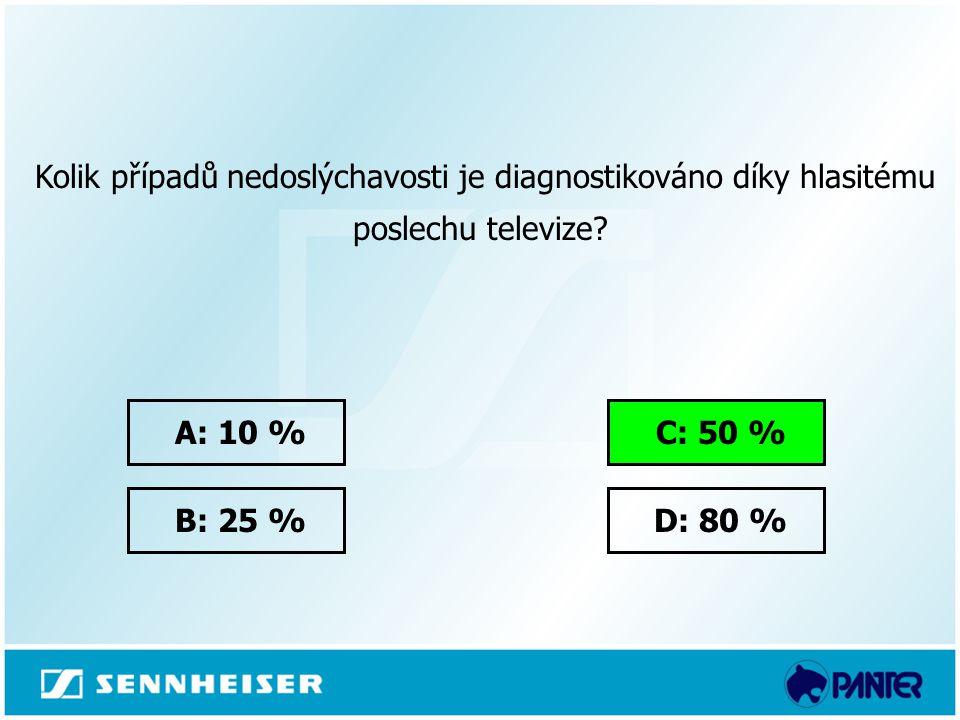 Kolik případů nedoslýchavosti je diagnostikováno díky hlasitému poslechu televize