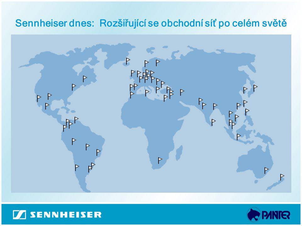 Sennheiser dnes: Rozšiřující se obchodní síť po celém světě