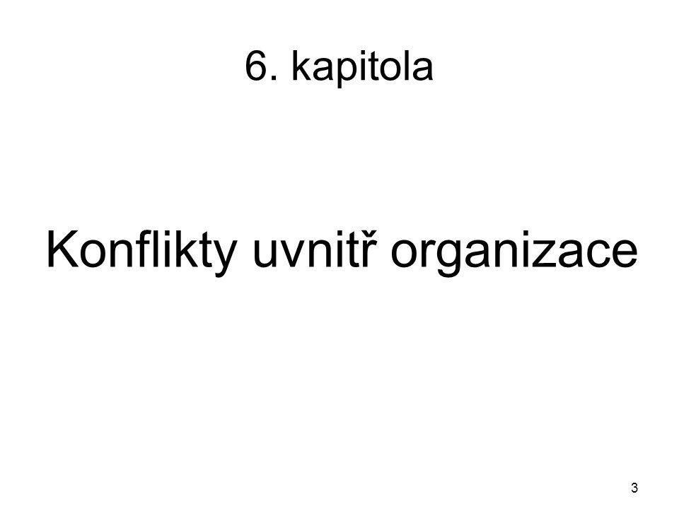 6. kapitola Konflikty uvnitř organizace