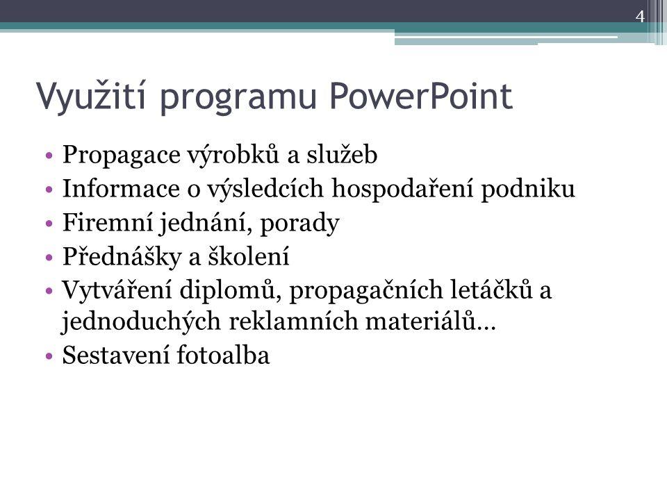 Využití programu PowerPoint