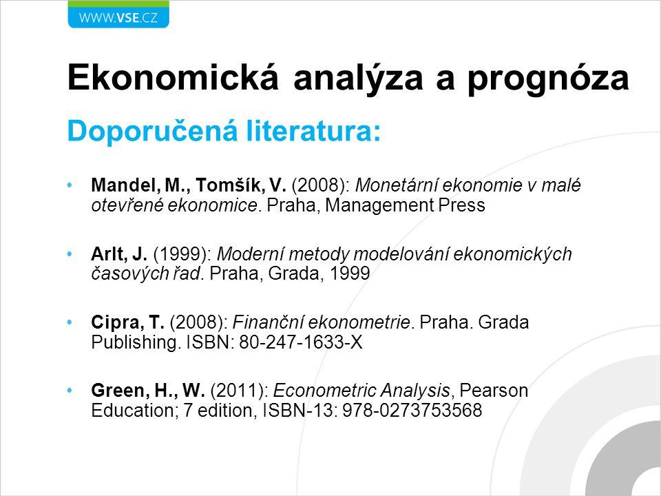 Ekonomická analýza a prognóza