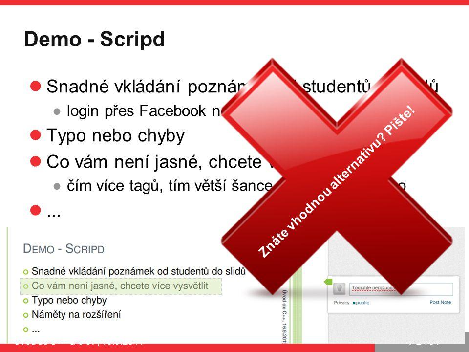 Demo - Scripd Snadné vkládání poznámek od studentů do slidů