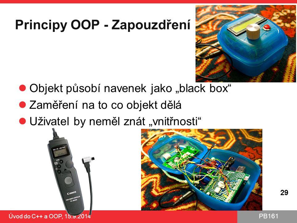 Principy OOP - Zapouzdření