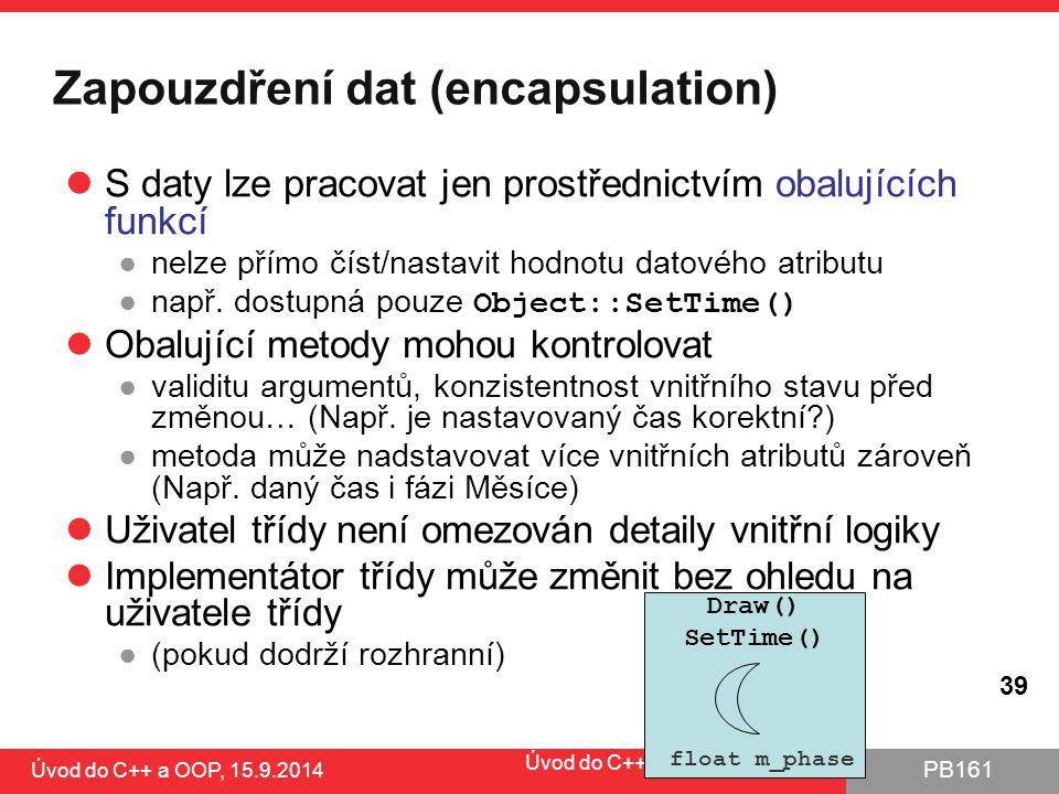 Zapouzdření dat (encapsulation)