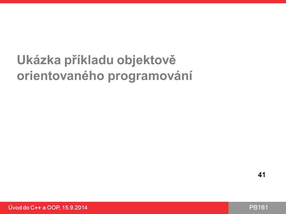 Ukázka příkladu objektově orientovaného programování