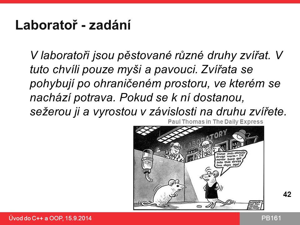 Laboratoř - zadání