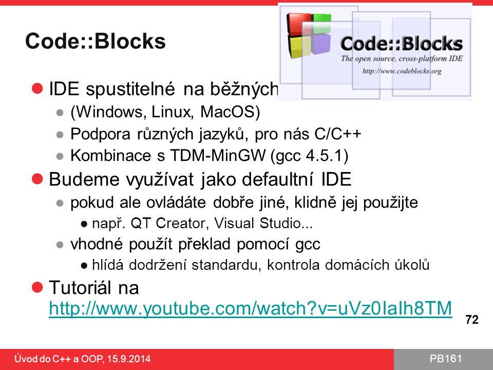 Code::Blocks IDE spustitelné na běžných OS