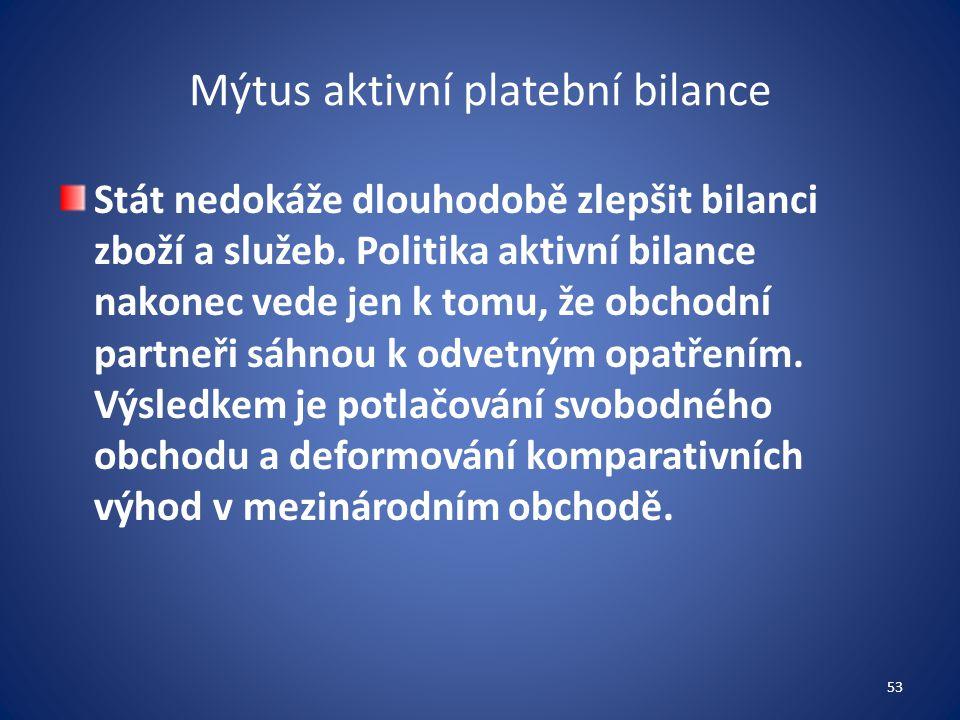 Mýtus aktivní platební bilance
