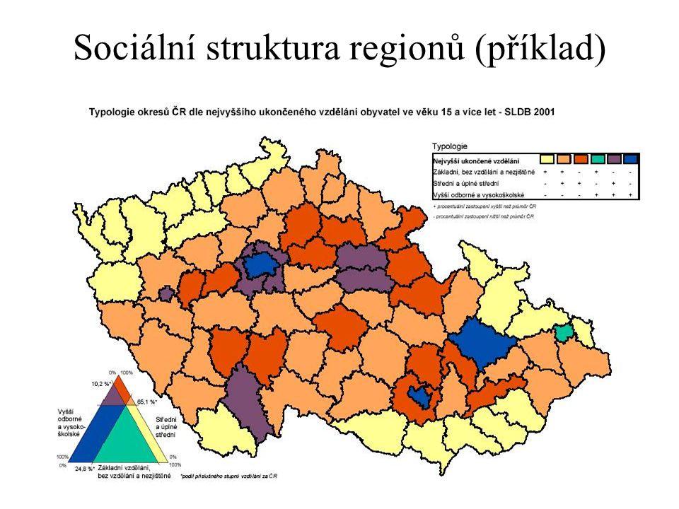 Sociální struktura regionů (příklad)