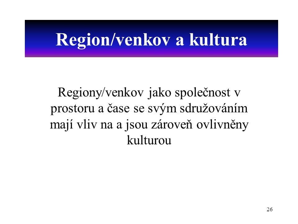 Region/venkov a kultura