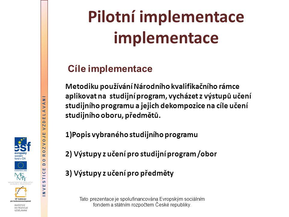 Pilotní implementace implementace
