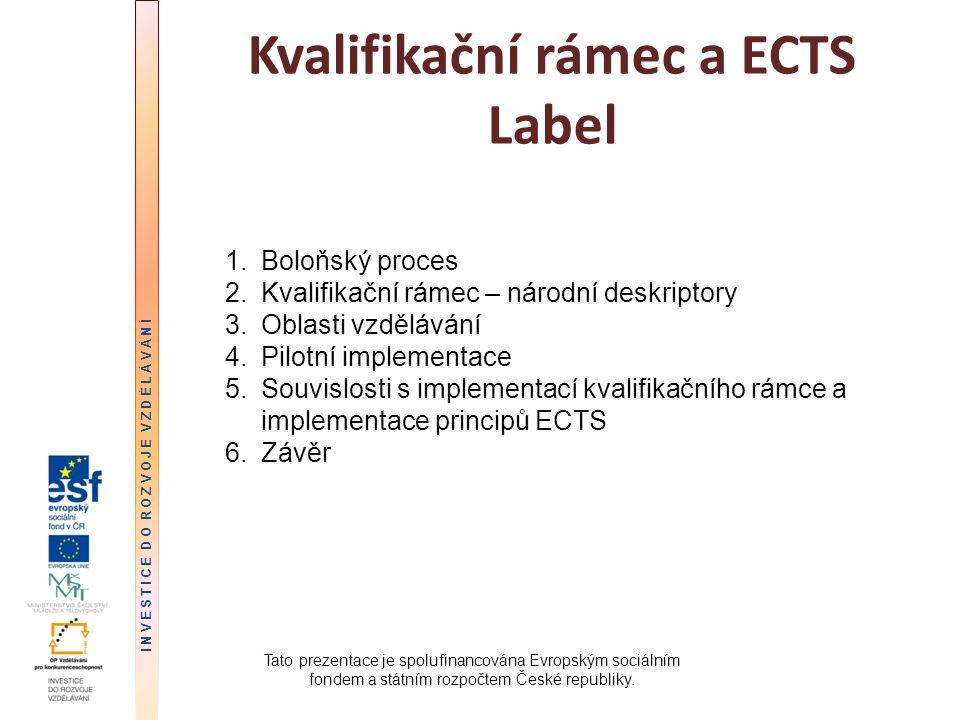 Kvalifikační rámec a ECTS Label