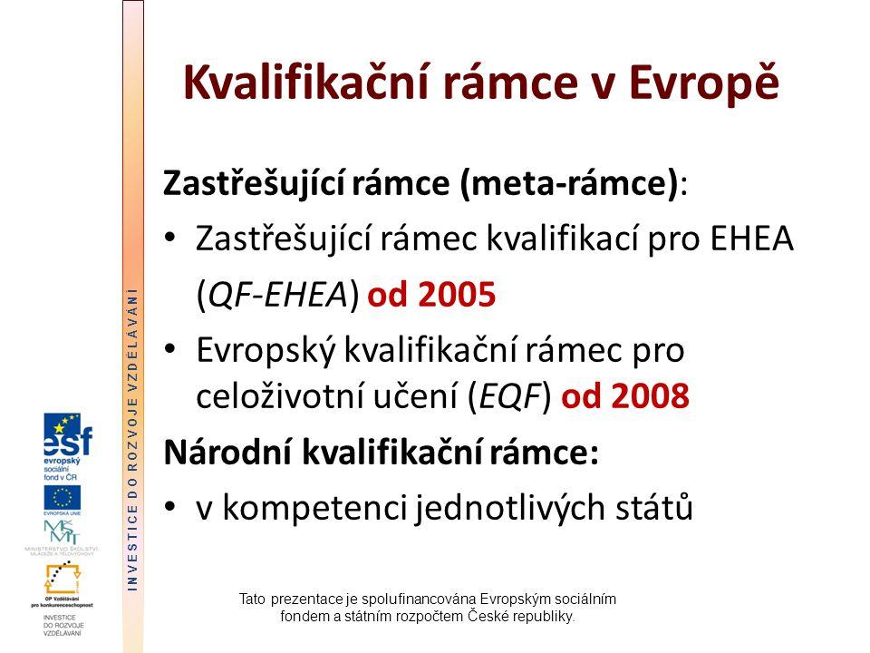 Kvalifikační rámce v Evropě