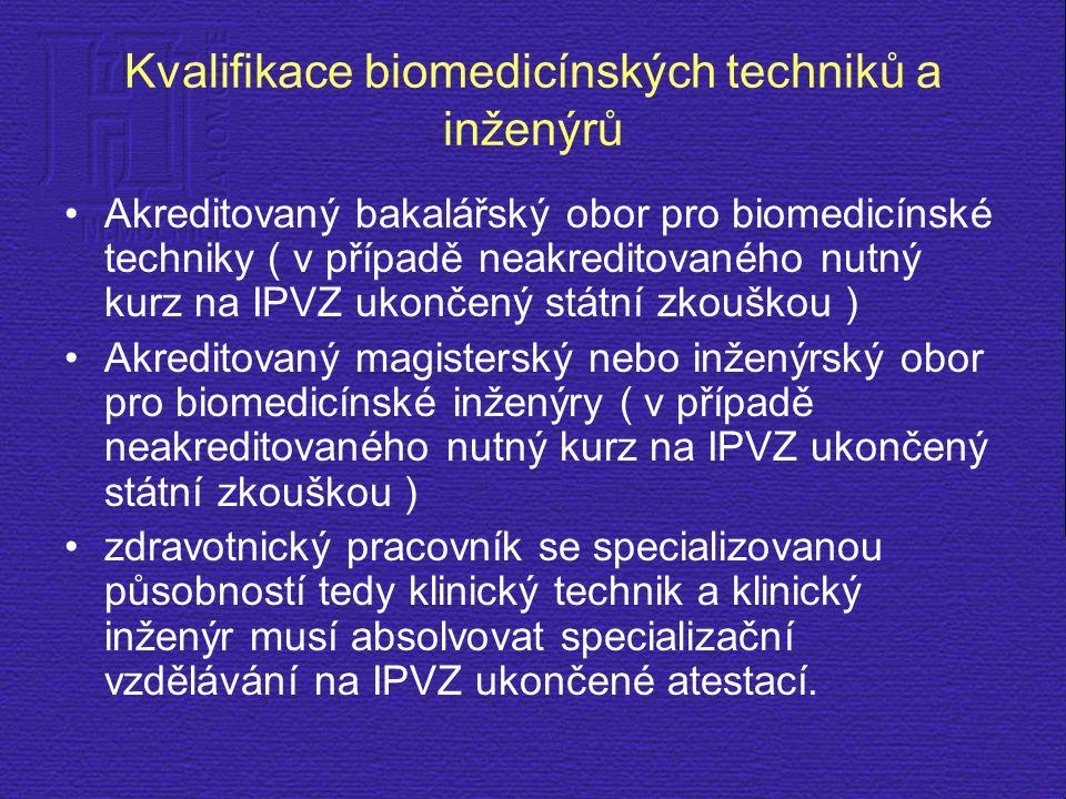 Kvalifikace biomedicínských techniků a inženýrů