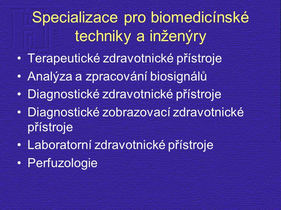 Specializace pro biomedicínské techniky a inženýry