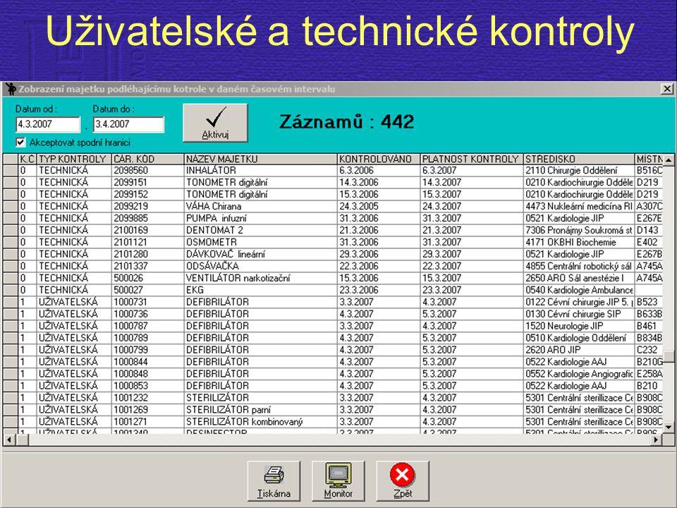 Uživatelské a technické kontroly