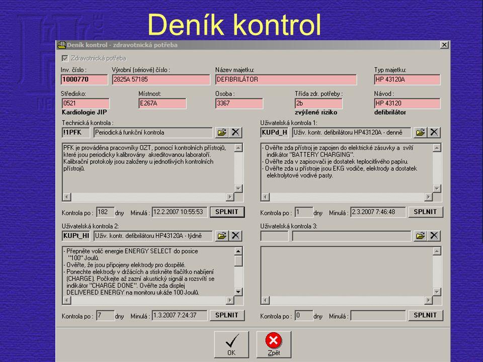 Deník kontrol