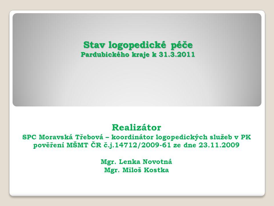 Stav logopedické péče Pardubického kraje k 31.3.2011