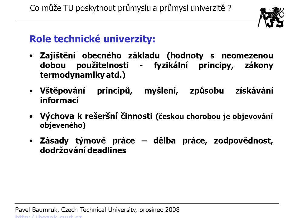 Role technické univerzity: