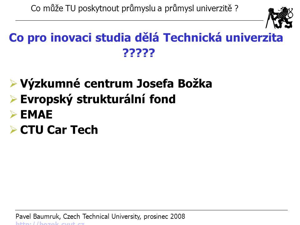 Co pro inovaci studia dělá Technická univerzita