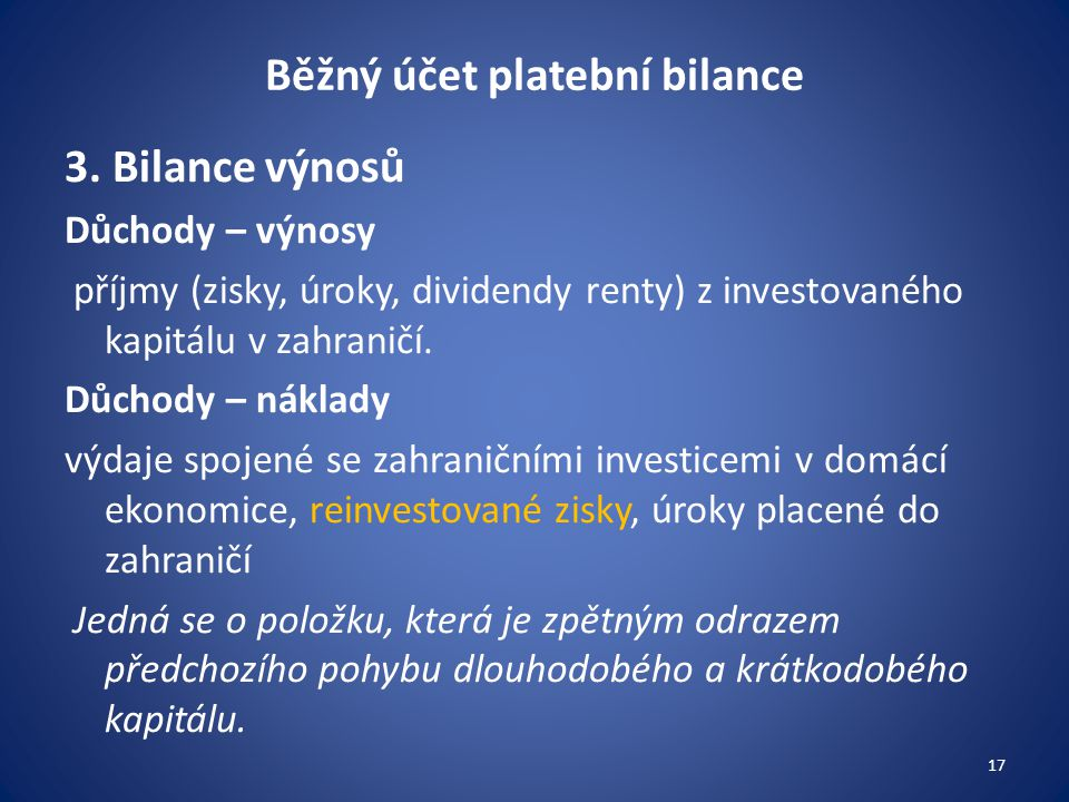 Běžný účet platební bilance
