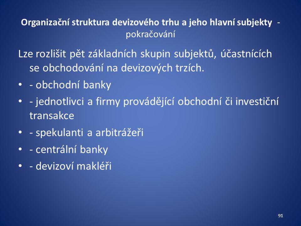 - jednotlivci a firmy provádějící obchodní či investiční transakce