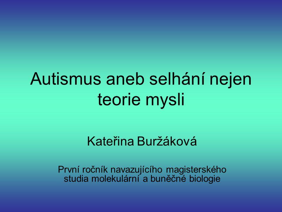 Autismus aneb selhání nejen teorie mysli
