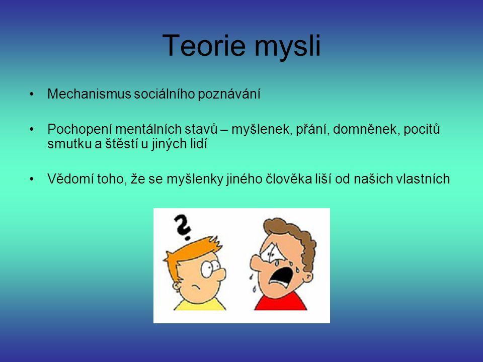 Teorie mysli Mechanismus sociálního poznávání