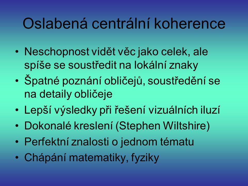 Oslabená centrální koherence